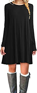 black shift long sleeve dress
