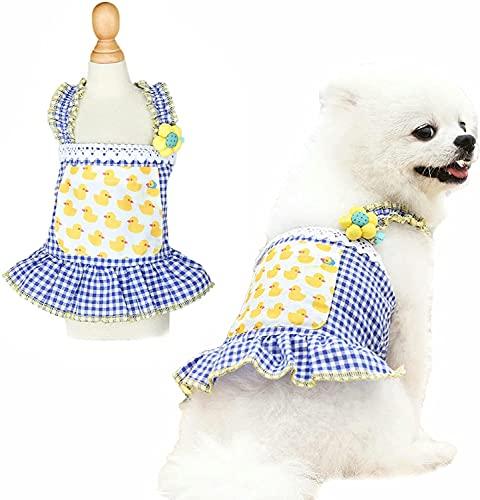 Kohza Vestido para perros, falda de cachorro, fruta, ropa para perros, boda,...