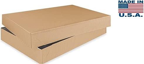 A1BakerySupplies® Men Shirt Box Women Top Box Gift Boxes Wrap Boxes Apparel Gift Boxes with Lids 10 Pack (Kraft Brown)