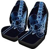 Feeling-Right Fundas Para Asientos De Coche Implante De Reemplazo De Cadera Instalado Pelvis Bone X Ray View Set De 2 Accesorios Para Automóviles Protectores Coche Universal
