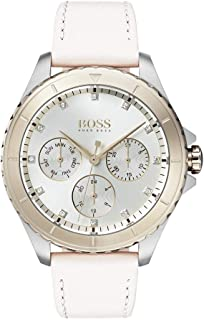 Hugo Boss Womens Quartz Watch, Chronograph Display and Leather Strap 1502448