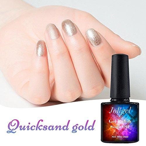 joligel Gel Nagellack 10ml Perlmutt gold Soak Off Semi-permanenten Maniküre Nail Art
