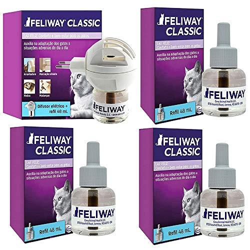 Combo Feliway Classic 1un Difusor Com Refil + 3un Refil 48ml