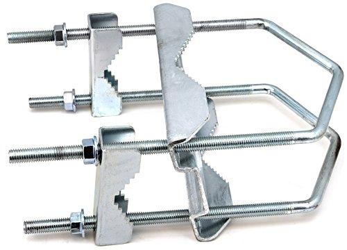 SKT ZTI05-01 Sat Doppel-Kreuzschelle Mastbefestigung bis 130 mm Rohr verzinkt