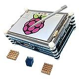 Haiworld KIT de pantalla Para Raspberry Pi 3 b / 2b,3.5' touch screen táctil TFT + 9 capas caja + disipadores de calor (3 elementos)