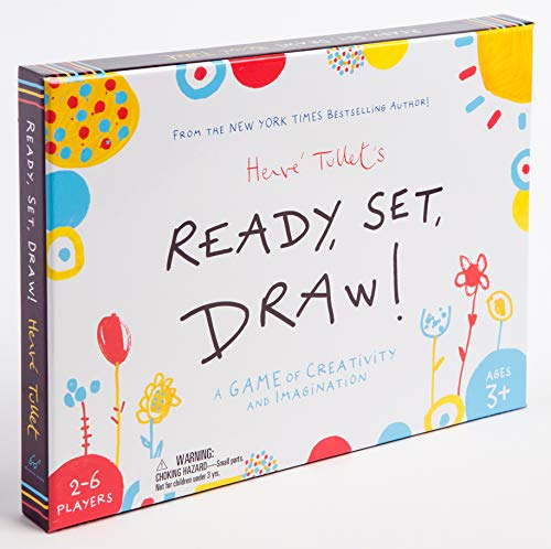 Chronicle Books Ready, Set, Draw!: A Game of Creativity and Imagination (Drawing Game for Children and Adults, Interactive Game for Preschoolers to Kids Ages 3+)