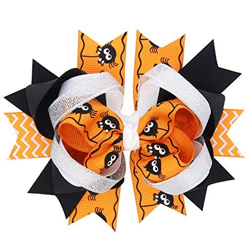 CAOLATOR 2 Pièces Bande de Cheveux Enfants Bébé Fille Bandeau bébé Bandeaux Elastiques Photographie Belles Cheveux Accessoires Impression Cheveux Accessoires Orange