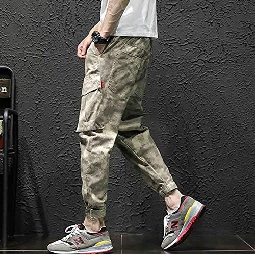 Dongwall Pantalones Deportivos Hombres Joggers Hiphop Camo Cargo Pantalones Moda Masculina Streetwear Punk Camuflaje Pantalones Hombres L Camuflaje