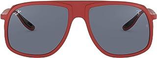Ray-Ban Men's Rb4308m Scuderia Ferrari Collection Square Sunglasses