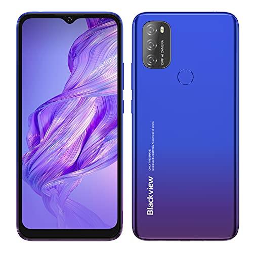 Blackview A70 SIMフリー スマホ 本体 Android 11スマートフォン6.5インチFHD+ディスプレイ8.3mmスリム5380mAhバッテリー13MPデュアルカメラ32GBスマートフォン本体4G携帯電話 顔認証 指紋認証 技適認証済 1年間の保証 (ブルー)
