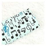 Espesar Tela De Algodón con La Nota Musical Gato Imprimir Material De Vestir Bolsa De Ropa DIY Hecho A Mano, 100% Algodón Textil Tissue (Color : Light Blue)