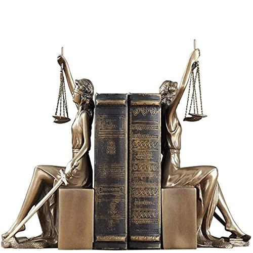 shandianniao Reserva, Diosa Romana Esculturas de Escritorio Regalos para la Oficina de Estudio de la Biblioteca, Figura de Bronce de Bronce, Dama Romana Estatuas de Justicia Bronce (Color : Brass)