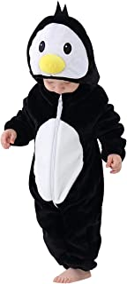 Baby Flannel Hooded Rompers Cute Animal Cosplay Jumpsuit
