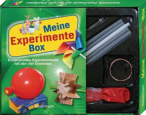 Meine Experimente-Box-Set: Kinderleichtes Experimentieren mit den vier Elementen: Feuer, Erde, Luft und Wasser. Mit Strohhalmen, Luftballon, LED-Lämpchen, Draht, Kartons mit ausgestanzten Formen