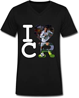 LENOJE Love Cristiano Ronaldo Men's Fashion Cotton Short Sleeve T Shirts V-Neck