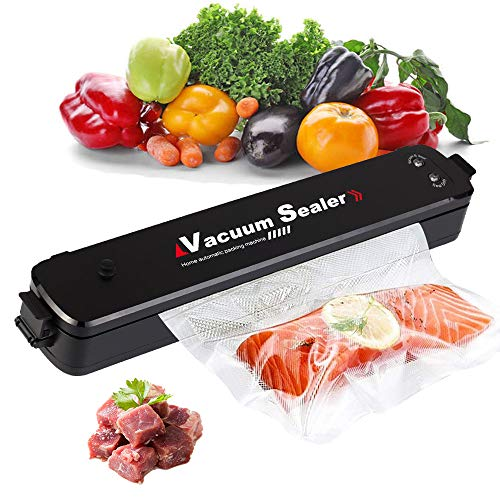 Vacuum Sealer Machine, 2020 Upgraded, Automatic Food Sealer for Food Preservation, Suitable for Dry & Moist Food, Portable Sealer with 15 Vacuum Sealer Bags | Compact Design | Easy to Clean | Led Indicator Lights | Vacuum and Seal Modes