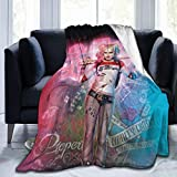 Har-Ley-qui-nn-Stand Ultra-Soft Micro Fleece Blanket Throw Super Soft Fuzzy Lightweight Hypoallergenic Plush Bed Couch Living Room