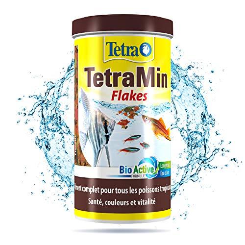 TetraMin en Flocons - Aliment Premium Complet pour Poissons Tropicaux de Surface - Favorise la Croissance la Santé et la Longévité - Renforce la Couleur - 1 L