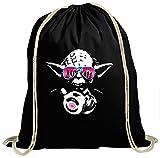 Shirt Happenz Joda #3 Premium Turnbeutel   Master Joda DJ   Meister Joda   Episode   Unisex   Gymbag, Farbe:Schwarz (Gymbeutel);Größe:37cm x 46 cm