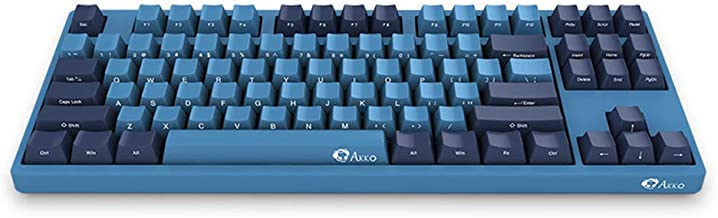 EPOMAKER AKKO 3087 SP 87-Key Cherry MX Switch Mechanical Keyboard with PBT Keycaps, DIY Lights for Windows PC Gamers (Cherry Brown Switch, Ocean Blue)