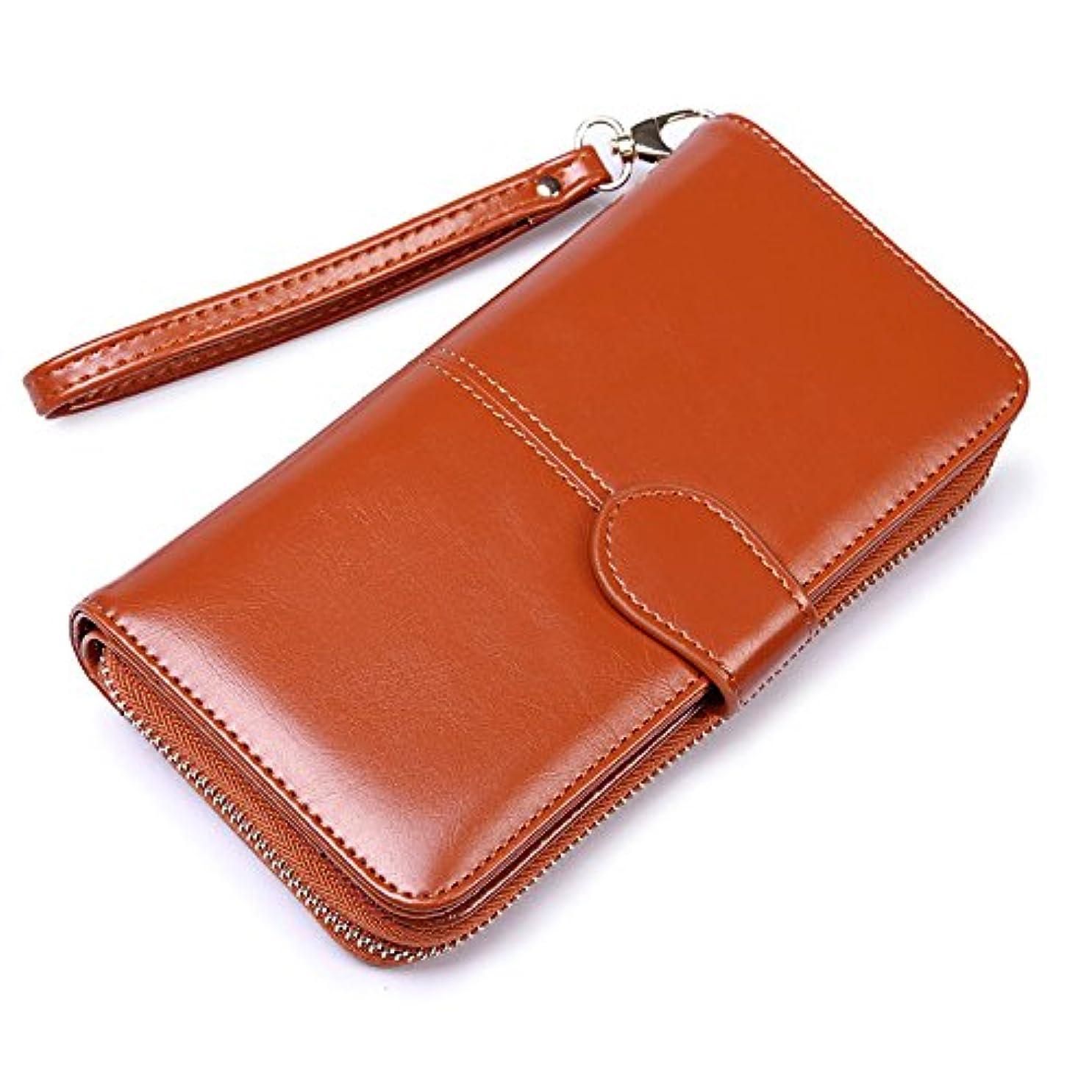 ボイコット無しマーキー[テンカ]レディース 長財布 二つ折り 財布 大容量 おしゃれ カード入れ 多機能 ウォレット PU ストラップ付き 使いやすい 小銭入れ プレゼント