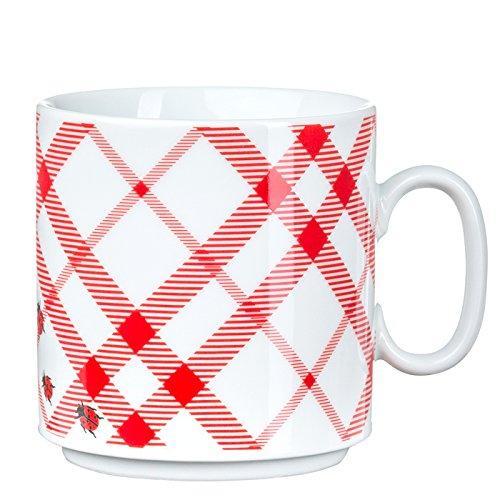 Feinkost Geschirr, Porzellan, Weiß/rot, 10.5 x 8 x 8 cm, 6-Einheiten