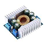 Módulo reductor 4.5V-30V a 0.8V-12V DC-DC 100W 12A Convertidor de módulo de voltaje regulado por diodo Diodo TVS con disipadores de calor de aluminio Luz LED