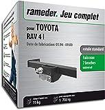 Rameder Pack attelage rotule Standard 2 Trous pour Toyota RAV 4 I + Faisceau électrique 7 Broches (130907-00028-1-FR)