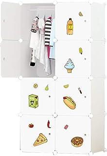 Garde-robe Simple Enfants Cartoon bébé Assemblé bébé Enfant Armoire de Rangement Simple économie Moderne XINYALAMP (Size : A)