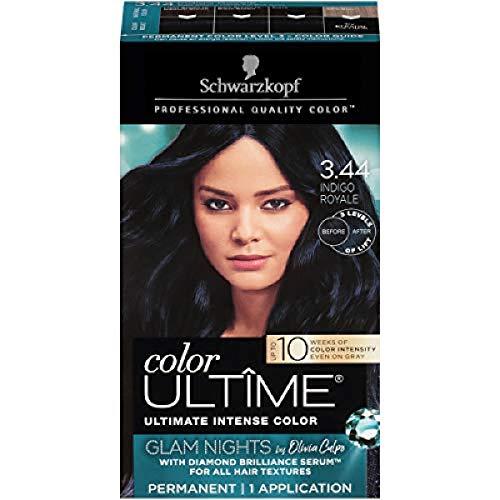 Schwarzkopf Color ultime permanent hair color creme, glam nights, 3.44 indigo royale