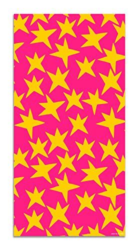 Panorama Agatha Ruiz de la Prada Alfombra Vinílica Estampados Básicos Estrellas Amarillas y Rosas 60x110cm - Alfombra Cocina Vinilo - Alfombra Salón Antideslizante e Ignífuga - Alfombras Grandes