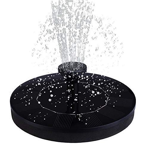 Hecha a mano Bomba solar de accionamiento hidráulico Kit de panel de hoja de loto bomba flotante Fuente de agua de la bomba for piscina estanque de jardín de riego Bombas sumergibles Durable
