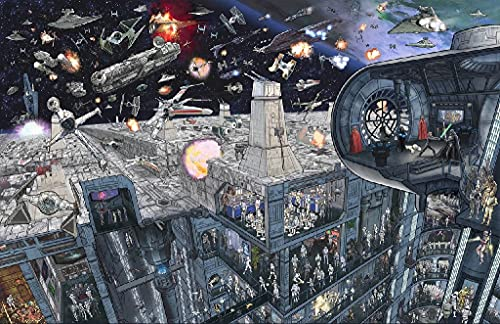 Pintura por Números para Adultos y niños Pintar Diy al óleo de Bricolaje 40X50CM Star Wars Battleship Aircraft Vista de la ciudad con Marco Pinceles Principiantes Hogar Lienzo Decoraciones Colores