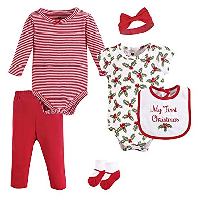 Hudson Baby Unisex Baby Cotton Layette Set, Holly, 0-3 Months