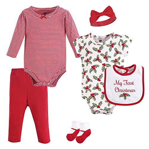 Hudson Baby Unisex Baby Cotton Layette Set, Holly, 3-6 Months