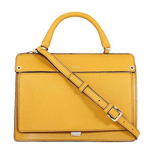 Furla Like Ladies Small Yellow Ginestra Leather Crossbody 978274