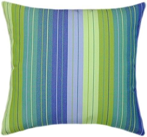 Sunbrella Seville Seaside Bargain sale Indoor Outdoor Striped Pillow 20 Patio Recommendation