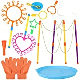 FunPa Pompas de Jabón, 12PCS Set de Varita de Burbujas para niños Creative Bubble Toy Varita de Burbujas Surtido para el Verano