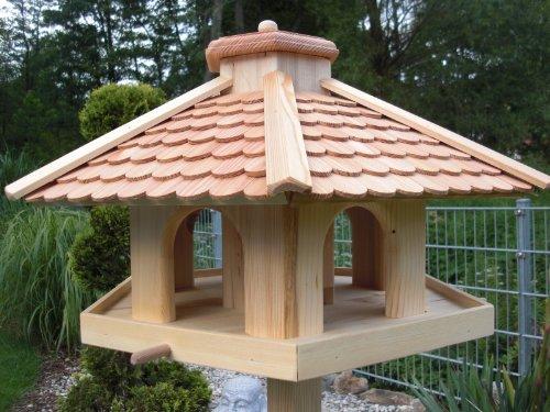 Vogelhaus Vogelhäuser-(V52)-Vogelfutterhaus Vogelhäuschen-aus Holz- -Lärche - 4