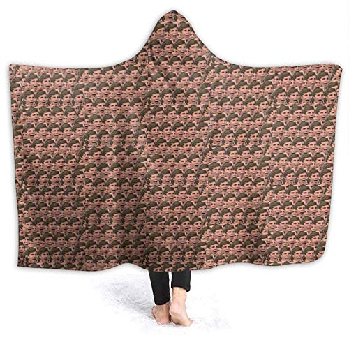 XCNGG Manta con capucha Hooded Blanket Michael Cera Comfortable Throw Blankets for Four Seasons Anti Pilling Flannel Wearable Blanket Suitable for Sofa Blankets for Adults and Children, Bed Blankets 5