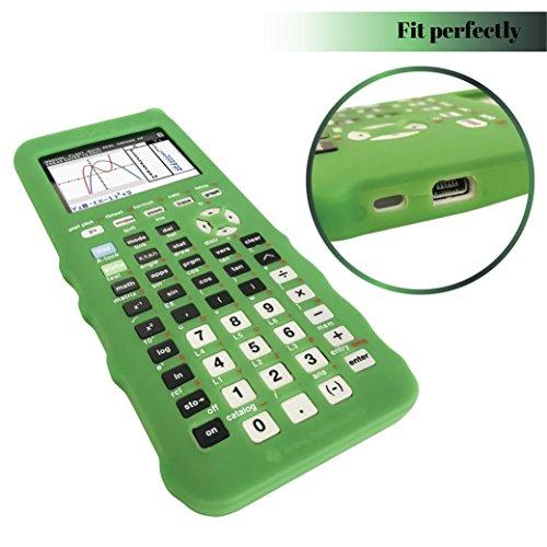 Silicone Case for Ti 84 Plus CE Calculator (Green) - Cover for Texas Instruments Ti-84 Graphing Calculator - Silicon Skin for Ti84 Plus - Protective & Anti-Scretch Cases - Ti 84 Accessories by Sully Photo #5