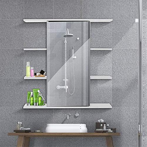 DYecHenG Armario de Baño Mueble de baño montado en la Pared con Espejo baño Muebles de Inodoro gabinete gabinete de gabinete de Almacenamiento cosmético para Dormitorio de Apartamento