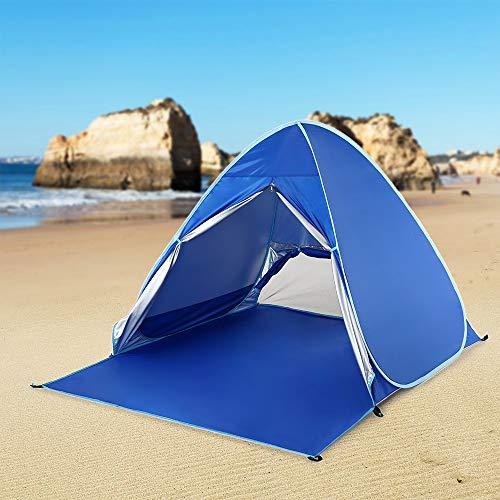 Tent SISI Shop de Plein air Camping Automatique instantanée Pop Up de Plage légère UV Protection Contre Le Soleil Abri Zelt Touristique 8.4 (Color : Blue)