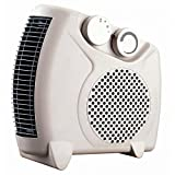 Termoventilador silencioso – Ventilador aire caliente y frio con regulación de temperatura – Termoventiladores para hogar y oficina – Calefactor potente y regulable - color blanco