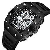 TJSM - Reloj de pulsera para hombre, automático, no mecánico, luminoso, impermeable, de silicona