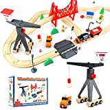🚂 Exclusive Tower Crane: Giant & Truck-Mounted Toy Crane surprise your kids! For making the Cargo-themed train toy much more life-like, we specially add 2 matching trucks to make it rather flexible and stable. Along with magnets and rotary device, la...