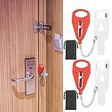 CINMOK 2PCS Cerradura de puerta portátil de bloqueo de viaje Cerradura de Seguridad Adicional para Hotel Dormitorio Baño Puerta del Apartamento.