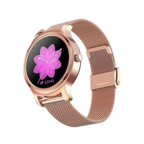 WZJ R2 Smartwatch, 1.28 Zoll Touch-Farbdisplay, Fitness Armbanduhr mit Pulsuhr Touchscreen Fitness Uhr IP67 Wasserdicht, Fitness Tracker Sportuhr mit Schrittzähler Stoppuhr,Gold Metal Chain