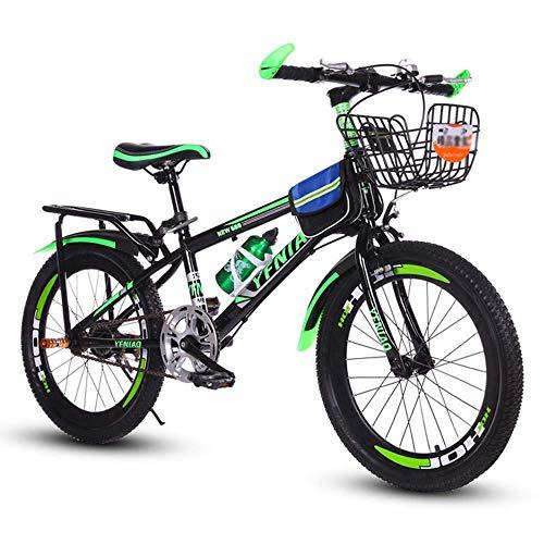 Nologo Bicicleta Bicicletas niños, Bicicletas de montaña, Bicicletas de Estudiantes, Hard Tail Bicicleta, 18/20/22 Pulgadas, Bicicletas de una Sola Velocidad, Frenos de Disco de la Bici