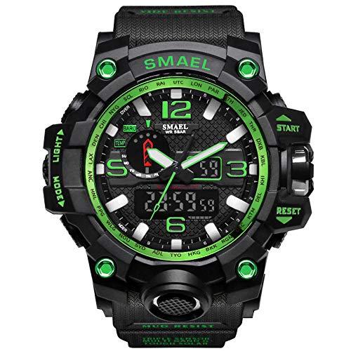 WAZA Reloj Militar 30M Impermeable Tamaño de 2 Pulgadas Espesor de Caja 15 milímetros Relojes Digitales Ligeros Cronómetro Que Brilla en la Oscuridad Especialmente Adecuado para Exteriores